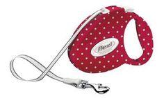 Red Polka Dot Fashion Retractable Tape Flexi Lead