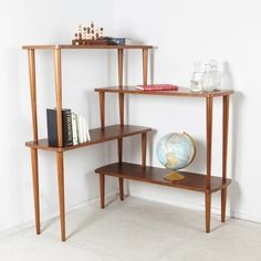 Corner Shelves Eliminate Dead Space - made from tables!