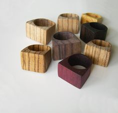 beautiful reclaimed wooden rings // sucree on etsy