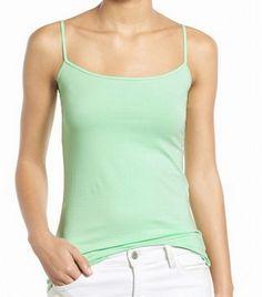 Halogen NEW Green Solid Women's Size Large L Tank Cami Spaghetti-Strap Top #965 #Halogen #TankCami #Casual
