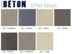 Greep uit het assortiment kleuren van onze Tollens betonlook producten