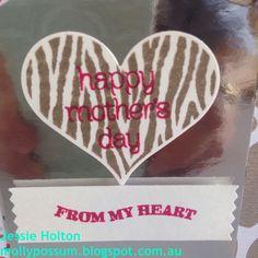 Groovy Love Mother's Day Card! http://mollypossum.blogspot.com #JessieHolton #MollyPossumCreations #StampinUp #GroovyLove #CircleOfSpring