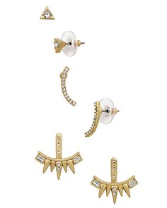 Post Studs. Set of two pairs and Earring Jackets. Wear them four ways. Swarovski crystals, Brass. High-quality, high-fashion Sterling Silver Jewelry that allows women to design the life of their dreams.  Available at Silpada.com #SilpadaStyle