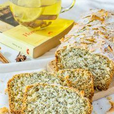 Chec de post cu nucă de cocos și semințe de mac | Bucate Aromate Banana Bread, Desserts, Food, Meal, Deserts, Essen, Hoods, Dessert, Postres