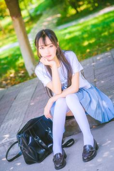 The look Asian Model Girl, Asian Girl, Japanese Models, Japanese Girl, Schoolgirl Style, China Dolls, High School Girls, Fashion Socks, Photos Of Women