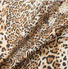 Brown Animal Printed Linen
