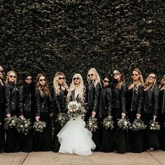 Trends Elegant Black Dresses for Bridesmaid Inspiration Lovely wedding dresses bridal collection Black Bridesmaids, Black Bridesmaid Dresses, Black Wedding Dresses, Biker Wedding Dress, Motorcycle Wedding, Black Veil Wedding, Halloween Bridesmaid Dress, Biker Wedding Theme, Alternative Bridesmaid Dresses
