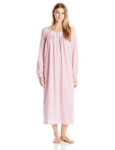 Eileen West Womens Peached Jersey Knit Ballet Nightgown PinkMulti Small * More info could be found at the image url.