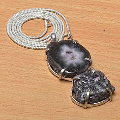 SOLAR QUARTZ & .925 STERLING SILVER OVERLAY SIGNATURE PENDANT,NECKLACE CHAIN - http://jewelry.goshoppins.com/fashion-jewelry/solar-quartz-925-sterling-silver-overlay-signature-pendantnecklace-chain/