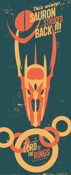 Lord of the rings poster  Vector Art by Nicolas Beaujouan
