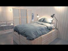 Bygg en trendig säng med massor med förvaring eller en stilren vikvägg att skärma av med. De här två Ikea-hacksen är lika smarta som snygga och SÅ enkla att göra själv!