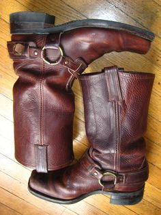 Classic, harness-style Frye boots.