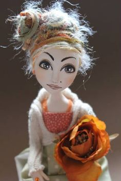 OOAK Art Doll By Abi Monroe. She is one of my favorite doll artists.  Her color schemes are brilliant.