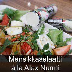 Mansikkasalaatti Laitilan Proegg Valkuainen Caprese Salad, Potato Salad, Potatoes, Healthy Recipes, Eat, Ethnic Recipes, Food, Potato, Essen