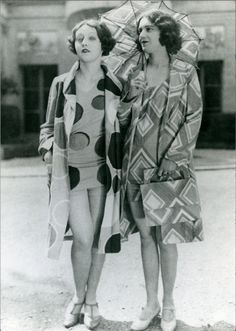 Models wearing beachwear designed by Sonia Delaunay, 1928, Private collection