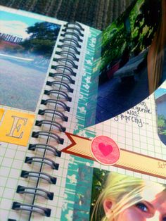 To make space for some hidden journaling, she placed washi tape half over the photo and used a razor to slice right at the edge so the photos can easily be flipped over.