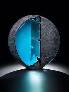 "Ethan Stern - AACG Glass Art - ""And Allah has created you and what you make."" Surah Saffat, 96 ""Oysa sizi de, yapmakta olduklarınızı da Allah yaratmıştır."" Saffat Suresi, 96"