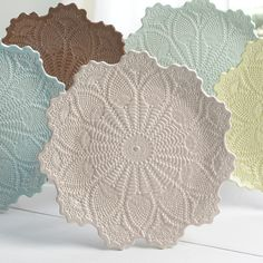 I love crochet and pottery. What a find pottery with crochet designs. WOW