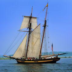 """Pride of Baltimore II"" (1800s-era tall ship) Ludington , Michigan by Michigan Nut, via Flickr"