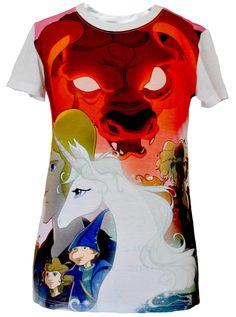 OFFICIAL the last #unicorn poster #T-Shirt  by #NewBreed Girl  #THELASTUNICORN   #REDBULL   #SCHMENDRICKTHEMAGICIAN #MOLLYMCGRUE