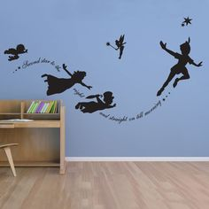 Peter Pan Vinyl Wall decal Sticker Custom Mural Fantasy Fairytale Mmagic Tinkerbell nursery pixiedust Boys Girls Room Decor bedroom * AliExpress Affiliate's Pin. Detailed information can be found by clicking on the VISIT button