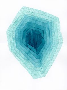 Turquoise Iceberg Original Watercolor Paitning, Abstract Watercolor Paiting, Abstract Art, Modern Watercolor, Original Watercolor painting by KlikaBoutique on Etsy