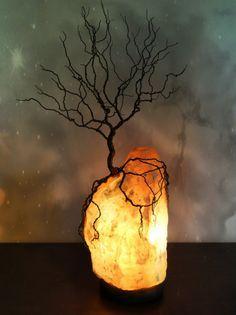 Wire Tree of Life Sculpture Himalayan Salt Lamp by KristinRebecca Read More at: diyavdiy.blogspot.com