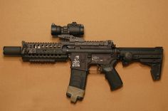 SBR (Short Barreled Rifle) with the ARMS S.I.R rail system