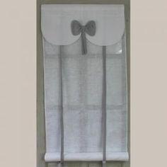 Store Noeud Gris Largeur 45cm Aux Cotonnades de Mathilde.