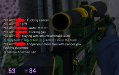 The response you get for using an auto sniper in Counter Strike Global Offensive (CSGO) - I am Molnar