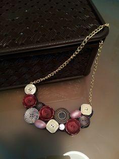 Collana con bottoni vintage!!