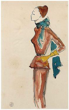 1955-original-fashion-drawing-for-the-fashion-house-of-schiaparelli-watercolor-hprints-com