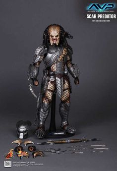 Hot Toys is proud to present the 1/6th scale Scar Predator Collectible Figure from the Alien vs. Predator movie. The movie-accurate Scar Predator collectible is specially crafted based on his image in the movie. SPECIFICATIONS PRODUCT CODEMMS190 PRODUCT NAMESCAR PREDATOR HEIGHTAPPROXIMATELY 14 INCHES/ 35 CM TALL POINTS OF ARTICULATIONS22 SPECIAL FEATURESTHE NEWLY DEVELOPED HEAD SCULPT, …