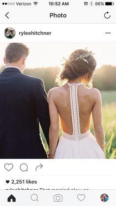 Ashley TerKeurst beautiful back of wedding dress! Her family is such an inspiration for Christian Faith! @lysaterkeurst