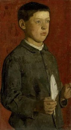 Boy with Feather - Ferdinand Hodler, 1875.  Art Experience:NYC  http://www.artexperiencenyc.com/social_login