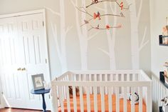 Project Nursery - Woodland Nursery with DIY Bird Mobile - Project Nursery