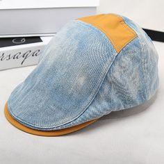High-quality Mens Women Vintage Grid Embroidery Letter Beret Cap Casual Visor Newsboy Forward Beret Hat - NewChic Mobile.