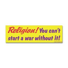 It helps, but it's not essential. Not at all. Wars happen all the time without a religious struggle. Usually people are fighting over power and resources. Although the idea of an afterlife for those who fight has always been a big motivator in getting people to kill other people...