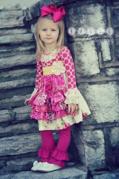 Little girls outfit by Giggle Moon