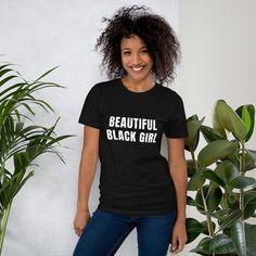 Joiyi Beautiful Black Girl T-Shirt Women's Short Sleeve T-Shirt - L