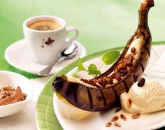 Bananen vom Grill mit Kaffee -Whisky-Butter