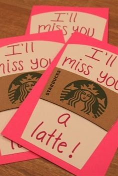 "Cute idea... can even be used in the beginning of the school year. ""I'm looking forward to a latte fun this year.""   End of the year teacher gift w/Starbucks gift card (or for an old teacher just to remind them how much they meant to you!!!)"