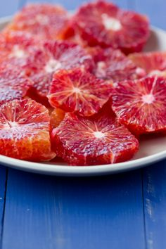 In Season - January. Blood orange is a variety of orange with crimson, almost blood-coloured flesh. They are smaller than a normal orange but pack a great flavour.