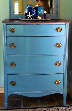 Aubusson and duck egg blue.