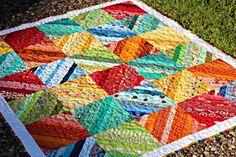 rainbow strip quilt - etsy frivilousnecessity
