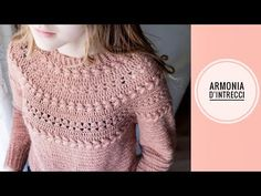 "MAGLIA UNCINETTO TOP DOWN ""ARMONIA D'INTRECCI"" - YouTube Crochet Woman, Crochet Baby, Knit Crochet, Crochet Jacket, Crochet Cardigan, Basic Crochet Stitches, Crochet Patterns, Crochet Winter, Cardigan Pattern"