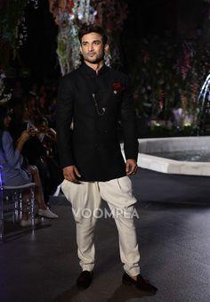 Traditional Indian men's fashion style file: Manish Malhotra kurta and Jodhpur pants worn by Sushant Singh Rajput