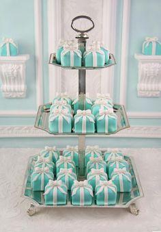mini torciki tiffany blue, wesele
