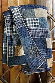 Made from thrifted flannel shirts and softly worn denim -- heavy but soft. Durable for picnics or the car, or a floor cloth for little kids. Like this better than all denim. - they did an awesome job with the quilting part