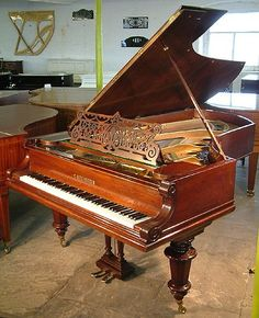 An 1884,  Bechstein grand piano with a polished, rosewood case at Besbrode Pianos